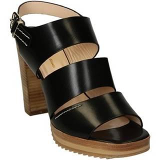 Sandále Leonardo Shoes  064 VITELLO NERO