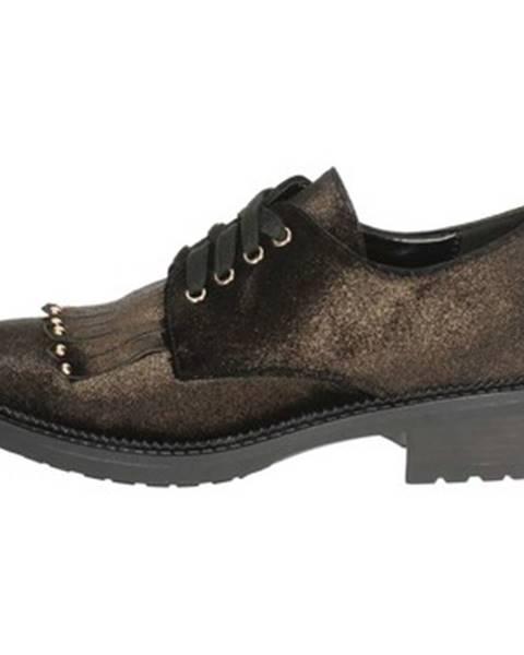 Hnedé topánky Luciano Barachini