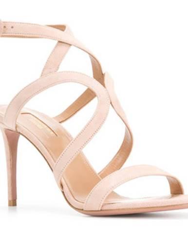 Ružové topánky Aquazzura