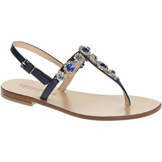 Sandále Leonardo Shoes  9/17 BLU/BLU TC 10