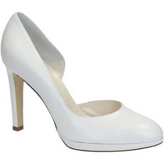 Lodičky Leonardo Shoes  S2616 CAPRETTO BIANCO T 3109P F LICIA