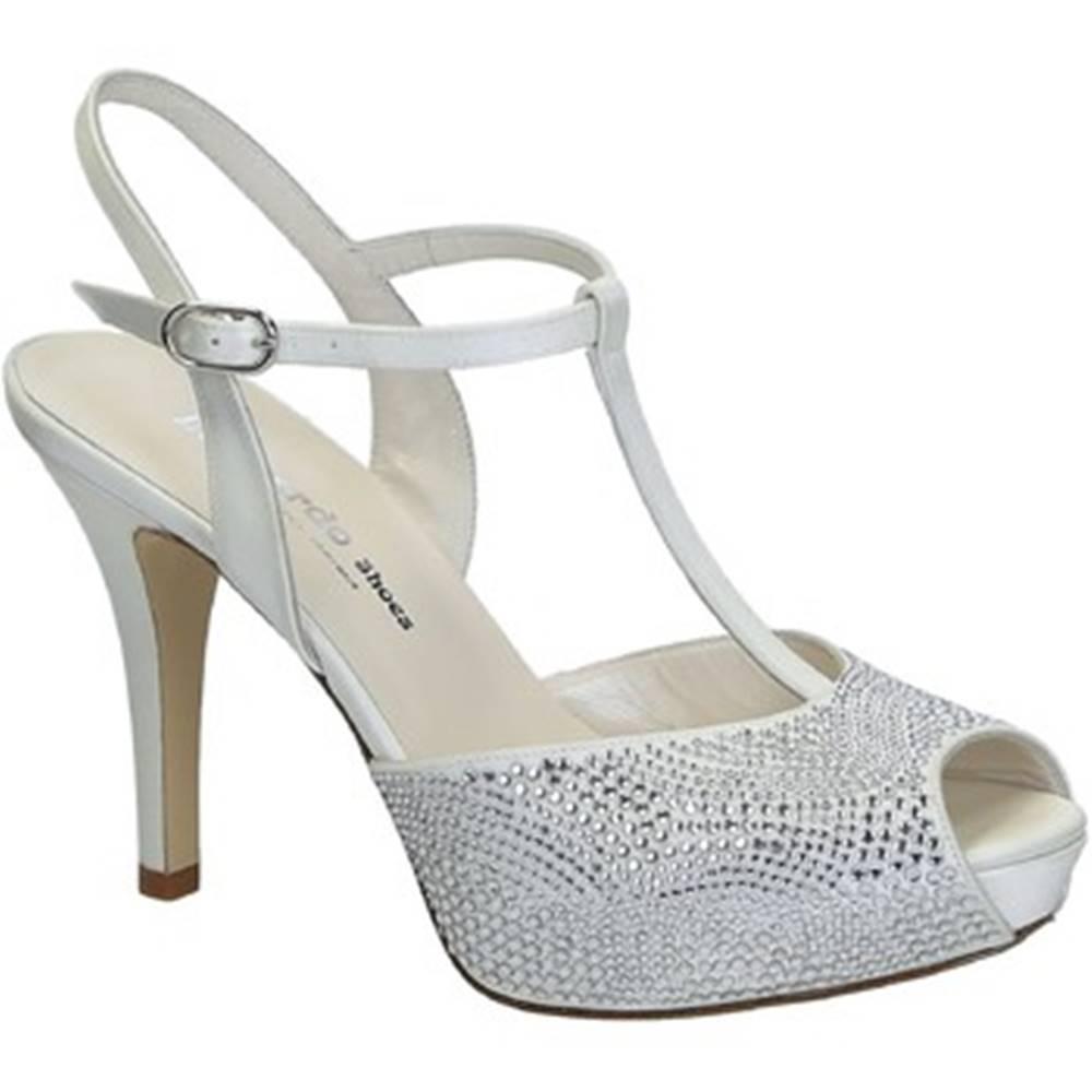 Leonardo Shoes Sandále Leonardo Shoes  S2710 SATIN BIANCO T 2693P F LUCY