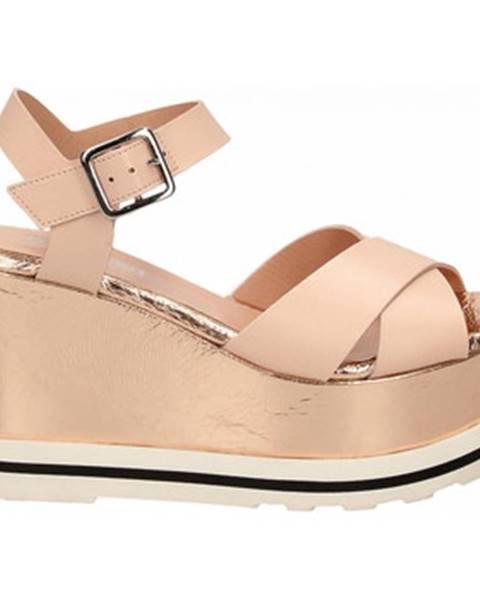 Béžové topánky Studio Pollini