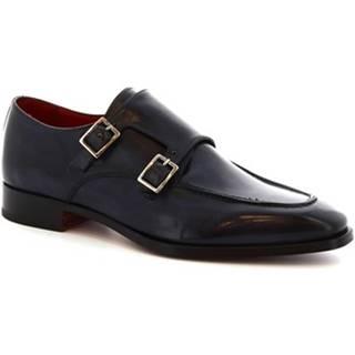 Mokasíny Leonardo Shoes  8742E19 VITELLO DELAVE BLU