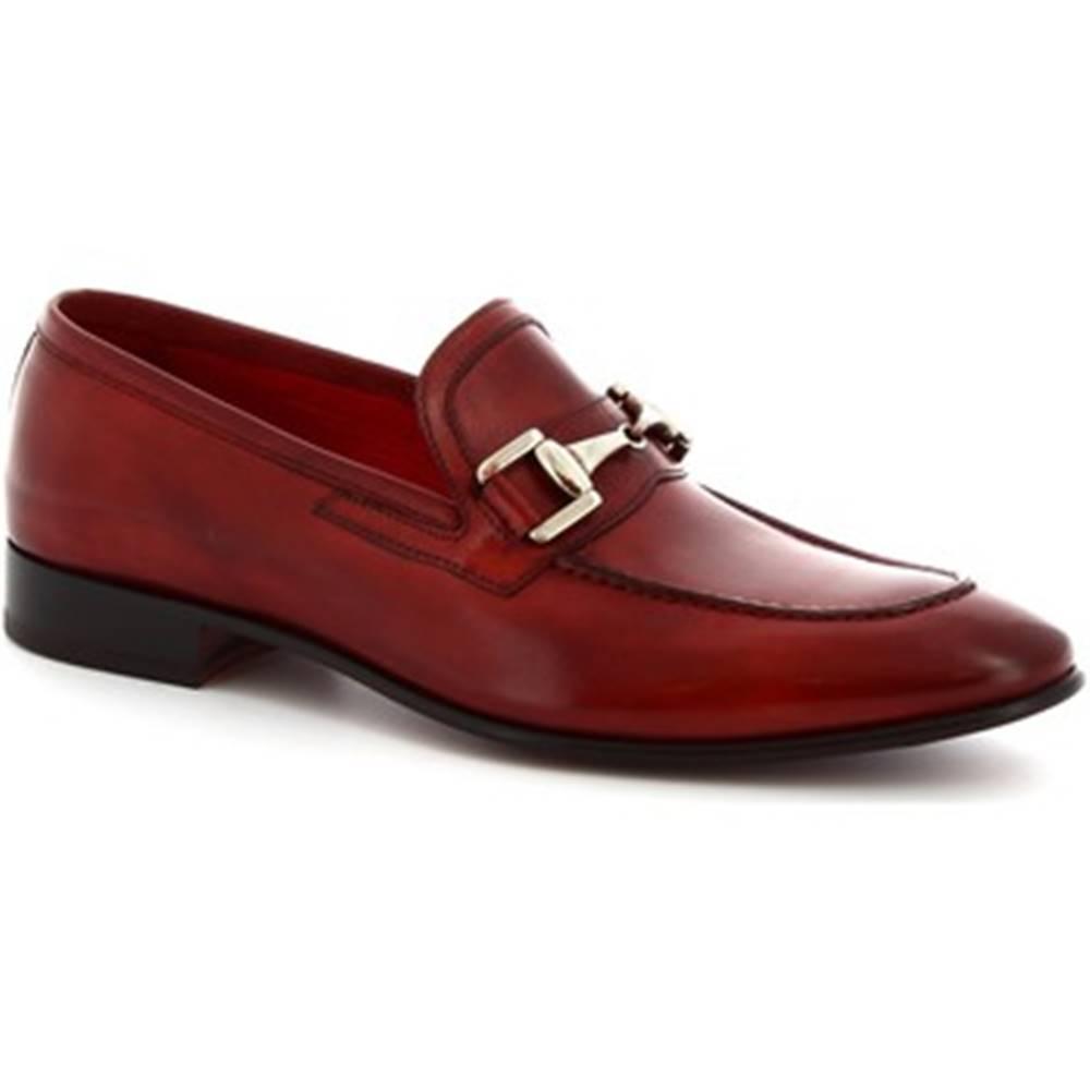 Leonardo Shoes Mokasíny Leonardo Shoes  7675 MONTECARLO DELAV? ROSSO