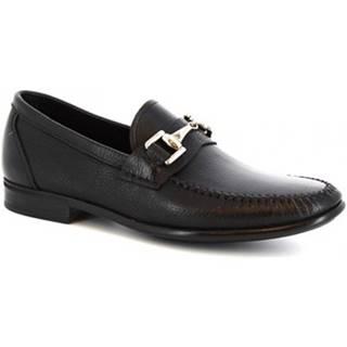 Mokasíny Leonardo Shoes  8767E19 TOM AL.CE NERO