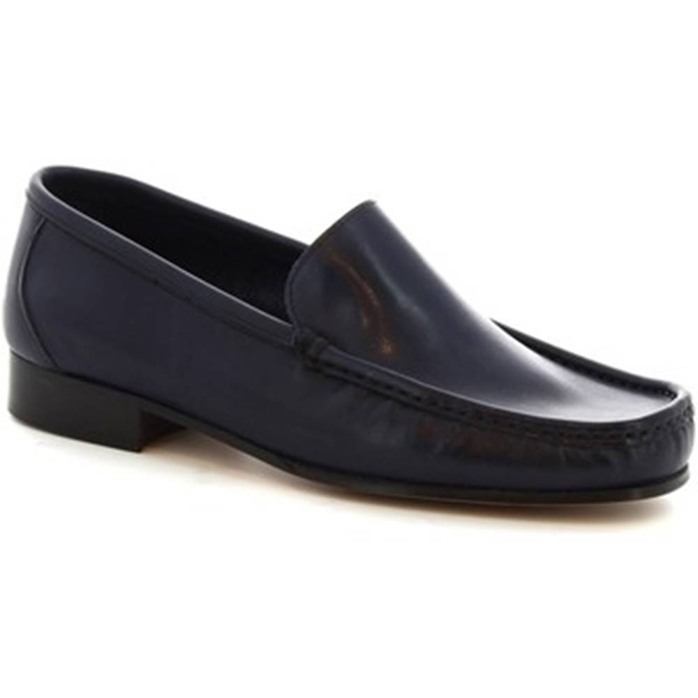 Leonardo Shoes Mokasíny Leonardo Shoes  963  VITELLO BLEU