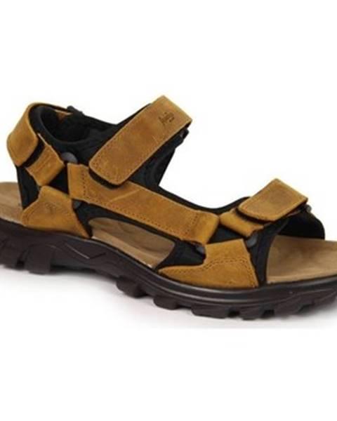Hnedé športové sandále American Club