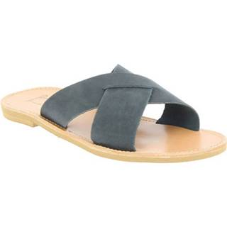 Šľapky Attica Sandals  ORION NUBUCK BLACK