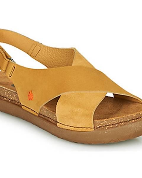 Žlté topánky Art