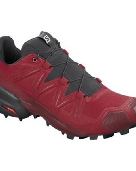 Červené topánky Salomon