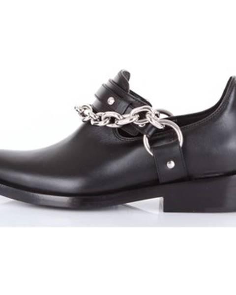Čierne topánky Paco Rabanne