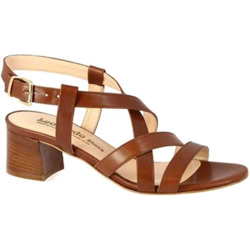 Leonardo Shoes Sandále  5126 VITELLO MARRONE