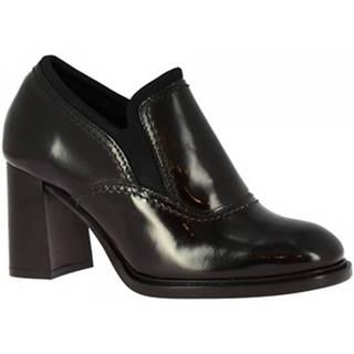 Čižmičky Leonardo Shoes  9804/1 ABRASIVATO NERO NAKAI