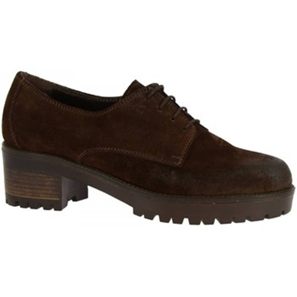 Leonardo Shoes Derbie Leonardo Shoes  023-16 CAMOSCIO T. MORO