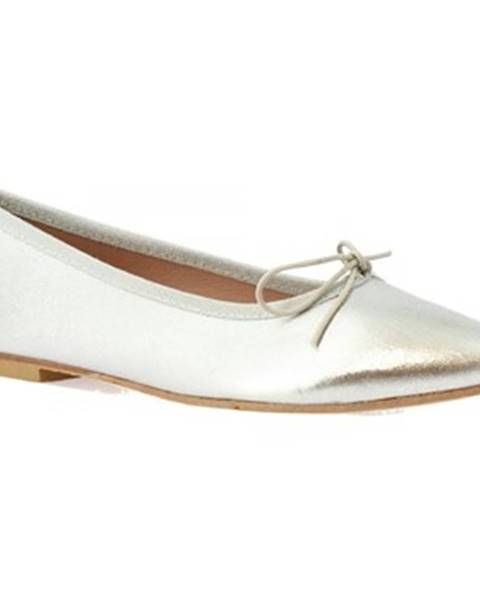 Strieborné topánky Leonardo Shoes
