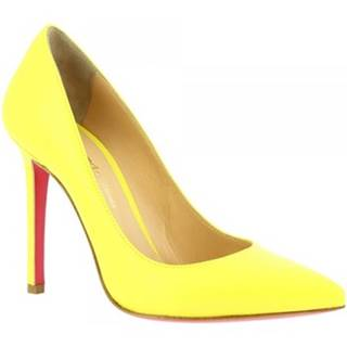 Lodičky Leonardo Shoes  7105 NAPPA GIALLO