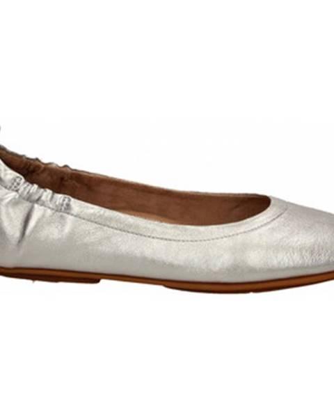 Strieborné topánky FitFlop