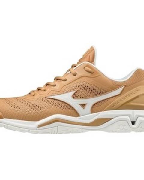 Béžové topánky Mizuno