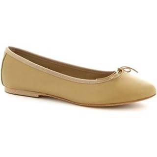 Balerínky/Babies Leonardo Shoes  6087/L NAPPA BEIGE