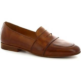 Mokasíny Leonardo Shoes  K 104 CUOIO