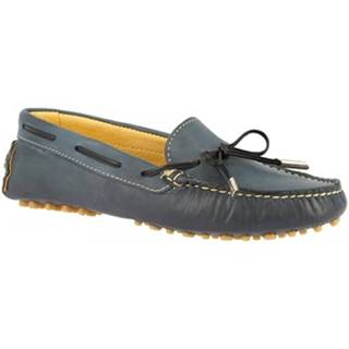 Námornícke mokasíny Leonardo Shoes  502 VITELLO BLU PIOLI