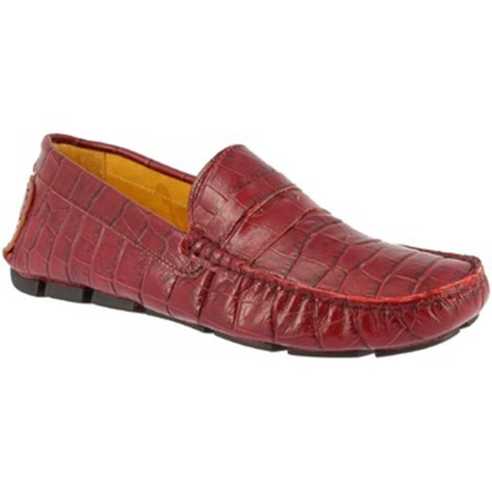 Leonardo Shoes Mokasíny Leonardo Shoes  503 COCCO BORDEAUX