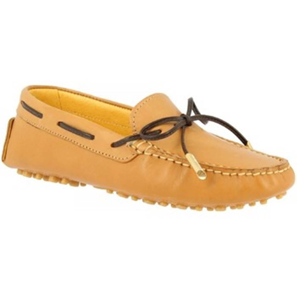 Leonardo Shoes Námornícke mokasíny Leonardo Shoes  502 VITELLO CUOIO PIOLI