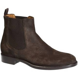Polokozačky Leonardo Shoes  2005_4 CAMOSCIO T.MORO