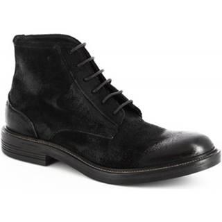 Polokozačky Leonardo Shoes  M681-14 ONTARIO NERO