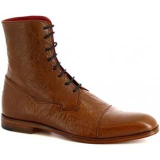 Polokozačky Leonardo Shoes  310 V. MARRONE