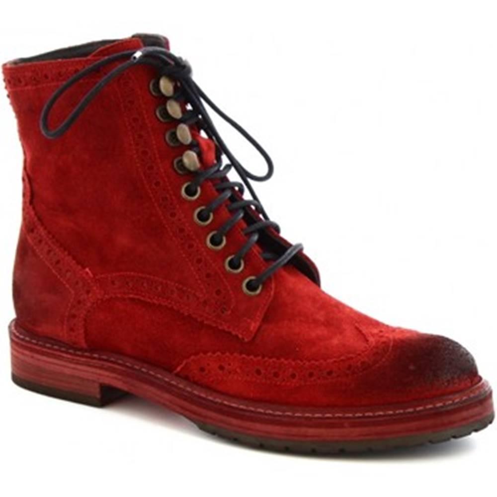 Leonardo Shoes Polokozačky Leonardo Shoes  4730 ROSSO