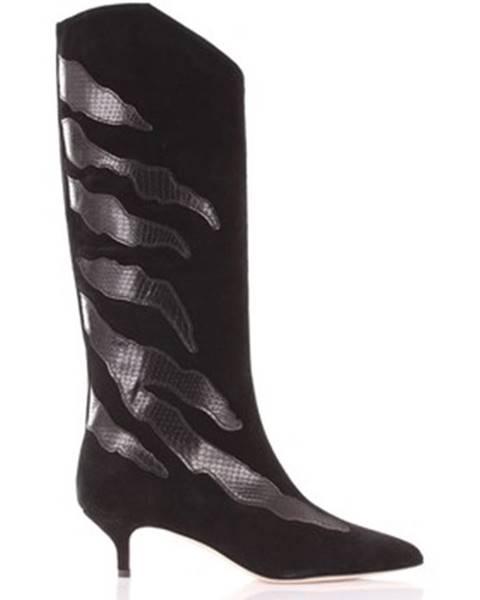 Čierne čižmy Gia Couture