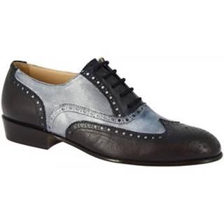 Derbie Leonardo Shoes  PINA 037 GRIGIO/BLU