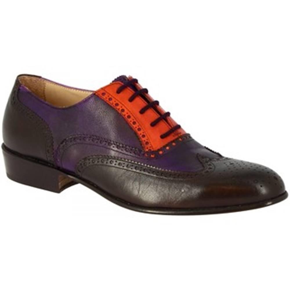 Leonardo Shoes Derbie Leonardo Shoes  PINA 037 VIOLA/ARANCIO/T. MORO
