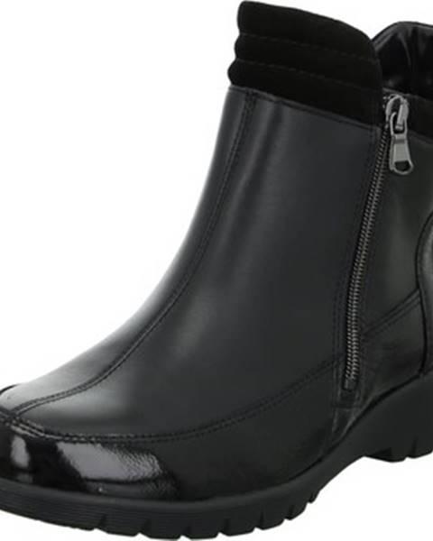 Čierne topánky Waldläufer