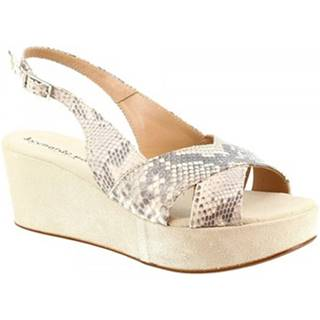 Sandále Leonardo Shoes  3378 TONI PITONE ROCCIA