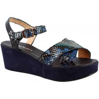 Sandále Leonardo Shoes  3408 TONI CAMOSCIO PITONE ZAFFIRO