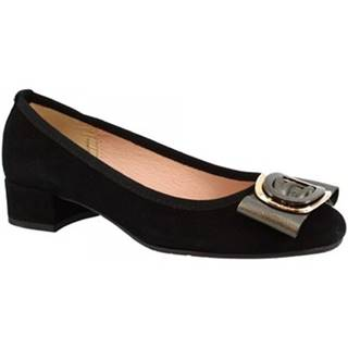 Lodičky Leonardo Shoes  2359 CAMOSCIO NERO