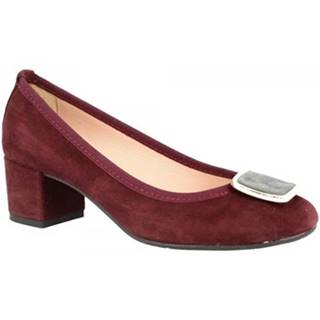 Lodičky Leonardo Shoes  3059 CAMOSCIO BORDO