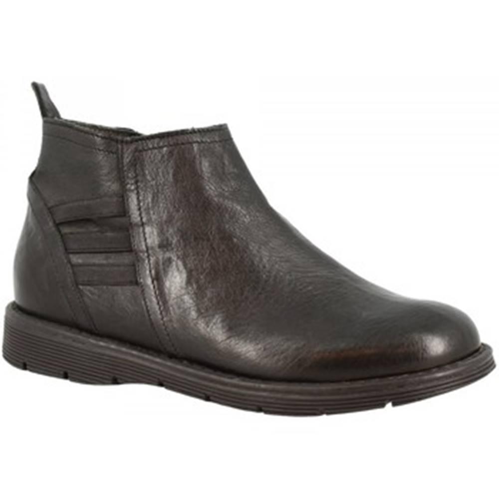 Leonardo Shoes Čižmičky Leonardo Shoes  3007 NERO