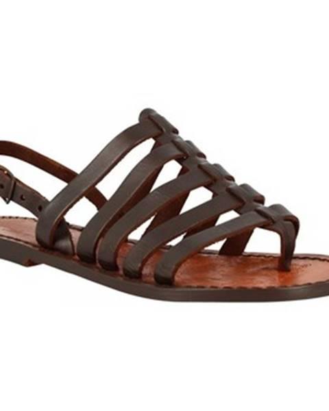 Hnedé topánky Leonardo Shoes