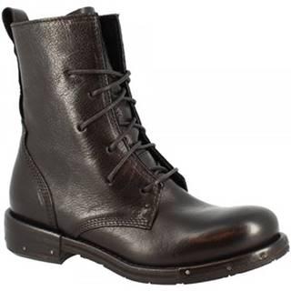 Polokozačky Leonardo Shoes  RE14F VACCHETTA NERA