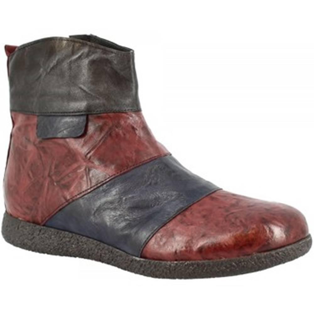 Leonardo Shoes Polokozačky Leonardo Shoes  2535 BORDO BLEU