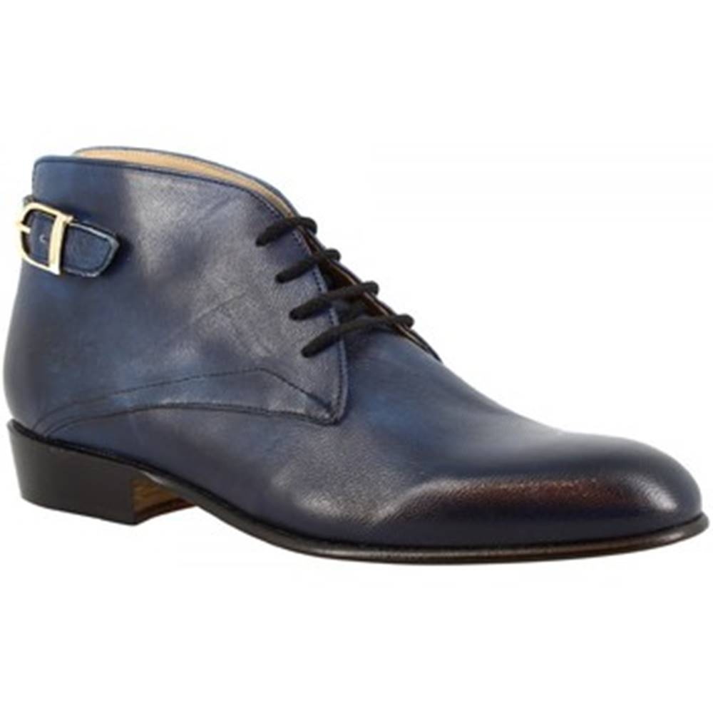 Leonardo Shoes Polokozačky Leonardo Shoes  045 CAPRA BLEU