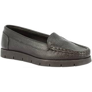 Mokasíny Leonardo Shoes  2838 NERO