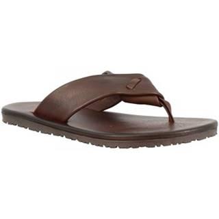 Žabky Leonardo Shoes  M5410 MARRONE
