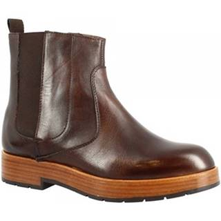 Polokozačky Leonardo Shoes  283-69 VITELLO T. MORO