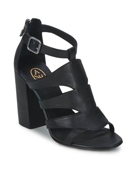 Čierne sandále Ash