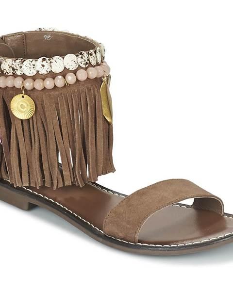 Hnedé sandále Metamorf'Ose